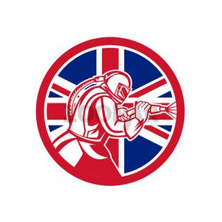 British Sandblaster Abrasive Blasting Union Jack Flag Circle