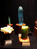 Different species of stones, Gargoti Museum, Sinner, Maharashtra, India.