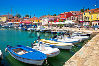Novigrad Istarski historic waterfront and colorful harbor view
