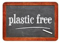plastic free blackboard sign