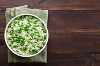 Creamy Green Pea Risotto