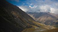 Barskoon pass, river and gorge and Sarymoynak pass, Jeti-Oguz, Kyrgyzstan