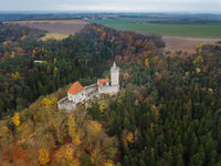 Castle Kokorin in Czech Republic - aerial view