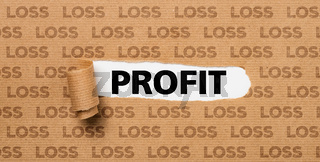 Torn Paper - Profit or Loss