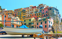 Beautiful view of Manarola town