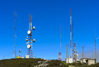 Telecommunication facilities on Mount Fóia, Algarve, Monchique, Portugal