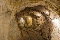 Vallejo, California - June 24, 2018: Inside Hazel-Atlas Mine in Black Diamond Regional Preserve.