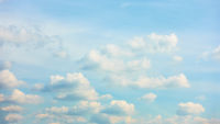 Panoramic view of  light blue sky with clouds