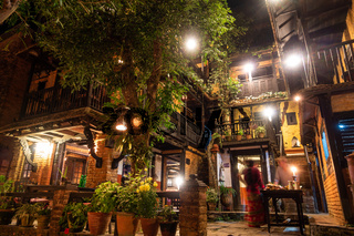 The Old Inn at night in Bandipur, Nepal
