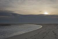Sunset Maasvlakte beach