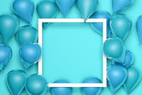 special offer celebrate background with blue air balloons