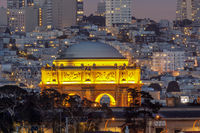 The Palace of Fine Arts Glowing in Marina District