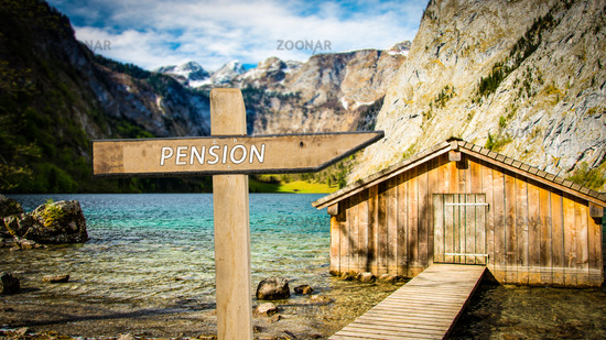 Street Sign to Pension