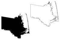 Cameron County, Texas (Counties in Texas, United States of America,USA, U.S., US) map vector illustration, scribble sketch Cameron map