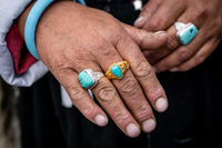 Hands with rings of Indian woman