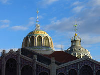 Roof of the Central Market of Valencia.
