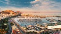 Aerial photo Alicante cityscape. Costa Blanca, Spain