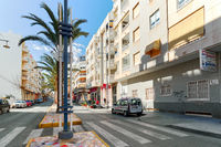 Charming street in Torrevieja city, Spain