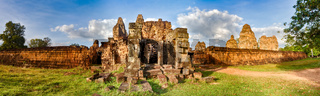 Pre Rup temple at sunset. Siem Reap. Cambodia. Panorama