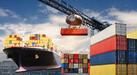 Container transport by ship
