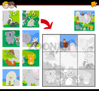 jigsaw puzzles with cartoon animals group