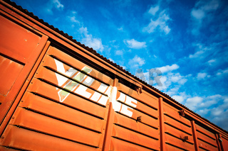 Old Vline Victorian Train Carriage