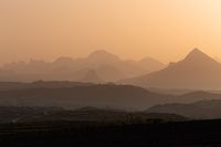 Sunrise landscape Simien mountain Ethiopia