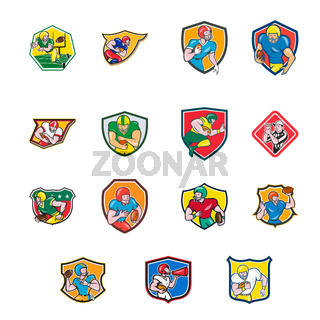 American Football Icon Shield Collection Set