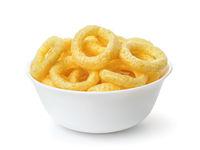 Bowl of crispy onion rings