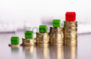 Steigende Preise für Immobilien