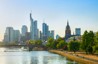 Frankfurt Downtown city cityscape, Germany