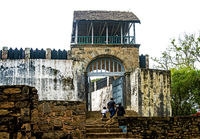 Entry gate to the traditional fortified royal settlement (rova) at the Royal hill Ambohimanga