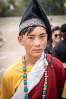 Native boy on festival in Ladakh