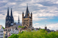 Great Saint Martin Church and Cologne Cathedral
