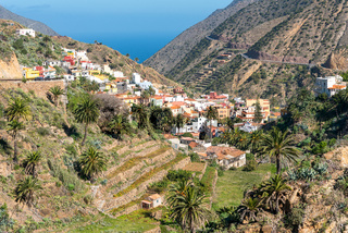 Vallehermoso in the north of the island of La Gomera