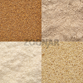 teff grain and flour set