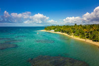 Aerial view landscape of tropical beach