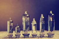 Several different vacuum tubes