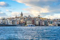 Galata Tower with Istanbul city skyline in Turkey