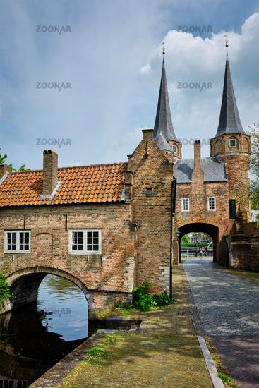 Oostport Eastern Gate of Delft. Delft, Netherlands