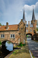 Oostport Eastern Gate of Delft. Delft, Netherlands