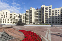 Modern government building in Minsk, Belarus