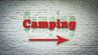 Street Sign to Camping