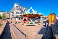 Zurich street scene carousel view