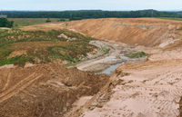 sand quarry destroying the environmen, sand quarry