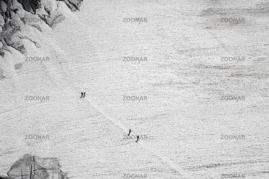 Gletscher auf der Zugspitze in Bayern