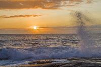 Sonnenuntergang nach einem Schlechtwettertag