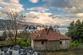 Old abandoned house on the shore of Lake Ohrid
