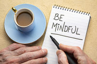 Be mindful - writing a note