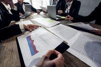 Business executives at meeting